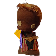 Cloth and Cork Black  Bobble Head Doll