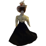 Miniature Gibson Girl Doll