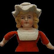 German Bonnet Head Bisque Doll