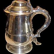 1744 George II Silver Tankard Thomas Laurence