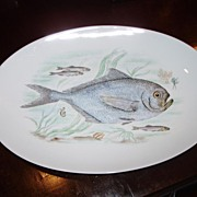 Vintage Hand Painted Fish Platter