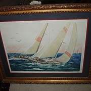 Lupe Choron 1982 Print - Fair Winds - signed & numbered