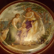 Small Framed Victoria Carlsbad Cabinet Plate