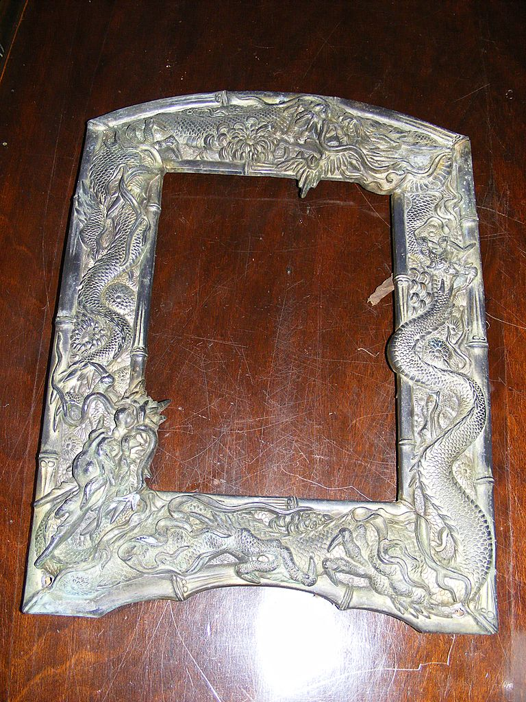 Japanese Edo Period Bronze Picture Frame