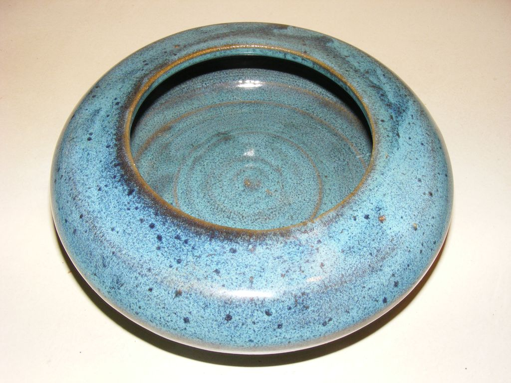 Hand Made Pottery - Blue Planter
