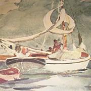 Winslow Homer - Sloop Bermuda 1958 Framed Print