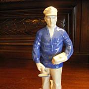 Carl Schneiders Erben / V.E.B. Porzellanfiguren Gräfenthal Porcelain Bricklayer Figurine