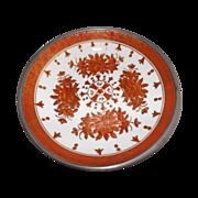 Vintage Hong Kong Porcelain and Pewter Bowl ACF