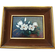 Vintage Oil Painting by Alli Harrigan - Magnolias