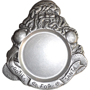 Carson Pewter Christmas Santa Cookie Tray