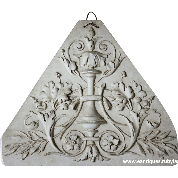 19th century French Plaster Plaque