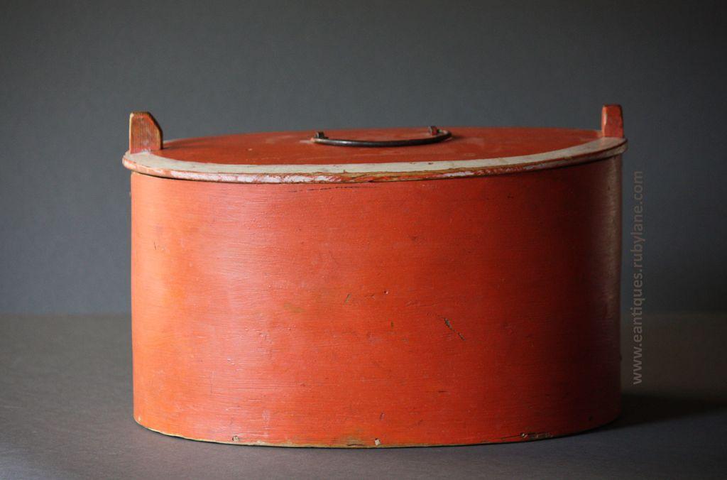 19th Century Scandinavian Bentwood Box - Original Paint - Antique Folk Art