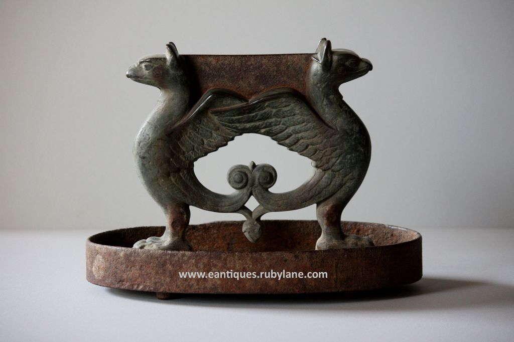 Regency Bronze and Cast-Iron Griffin Boot  Scraper - Antique