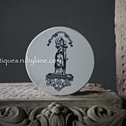 Antique English Ceramic Shop Scale Plate - SMALL- Victorian Era, Late 19th Century