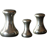 Vintage English Brass Scale Weights - Bell-Shaped / Capstan