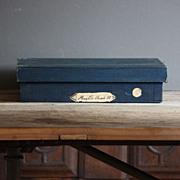 Vintage Industrial English Shopkeeper's Advertising Box - Antique Haberdashery Wooden Storage Box #2