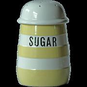 T. G. Green YELLOW Banded Cornish Ware SUGAR Shaker - Cornishware