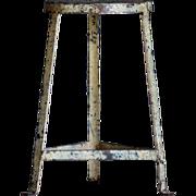 Salvaged Vintage Industrial Metal Stool / Chair