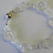 Frosted Quartz Nugget Bracelet
