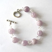 Lovely Light Amethyst/Quartz Bracelet