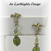 Petite Green Tourmaline Dangle Earrings