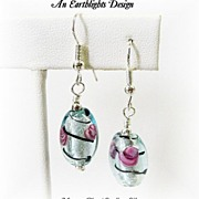 Beautiful Italian Glass Dangle Earrings