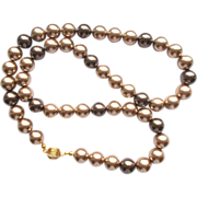 Bronze Swarovski Pearl Necklace