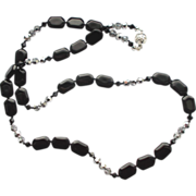 Black Onyx/Crystal Necklace