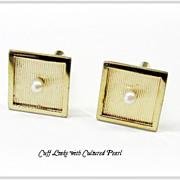 Beautiful Square Cufflinks w/Pearl