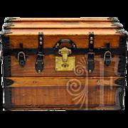 Statement Piece Vintage Salesman's Wooden Trunk