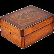 Rare, Exquisite Antique Louis Philippe Style Mahogany and Rosewood Veneer Dresser Box (c. 1830-1848)