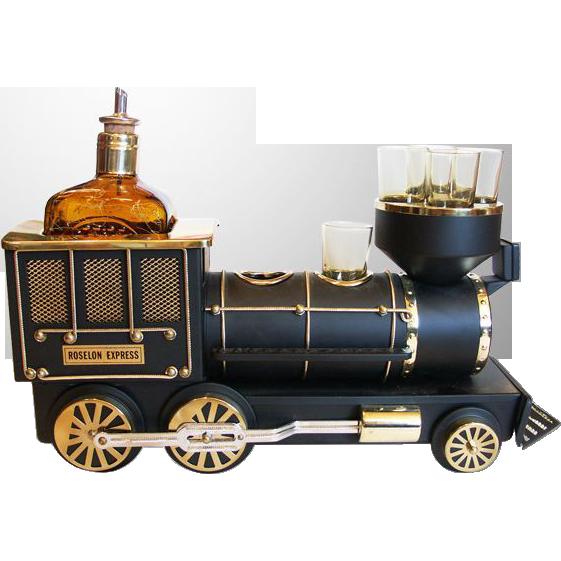 """Choo Choo! """"Iron Horse"""" Train Engine Bar Set"""