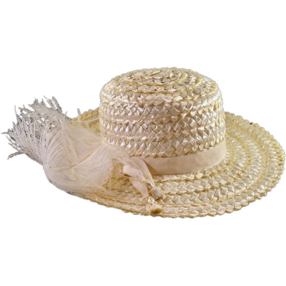 Vintage Fun and Flirty White Straw Hat