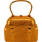 "1960's Authentic Rare Judith Leiber ""Suitcase"" Purse"