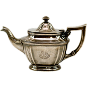 """Very Rare 1926  Founding Year """"The Drake Hotel""""  Special Order Silver Plated Gorham Tea Pot"""