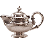 Historic Gotham Hotel NY Vintage International Silver Soldered Teapot