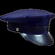 Fun Vintage Cop Hat in Dark Blue