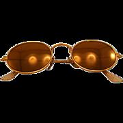 "Very Cool Vintage Ray Ban ""Diamond Hard"" 24K Gold Electroplate Arista Frame Sunglasses"