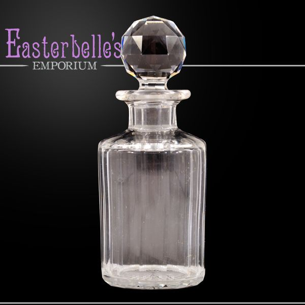 Vintage American Brilliant Cut Glass Bottle