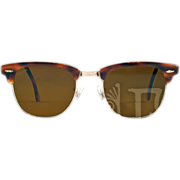 Vintage Ray-Ban Clubmaster Classic Horn Rimmed Sunglasses