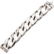 Big, Bold, Givenchy Curb Link Classic Vintage Silver Tone Bracelet