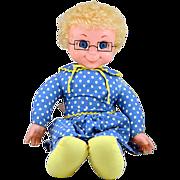 "Original Mattel 1967 22"" Mrs. Beasley Doll Talks! and Original Glasses"