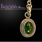 OOAK Davison Tourmaline and Aquamarine Long, Long Sterling Silver Chain and Pendant Necklace