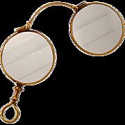 14K Gold Antique Lorgnette Spectacles Curry & Paxton Ltd. Opticians London