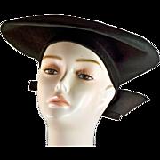 Glamorous Unique 1940's Vintage Hat