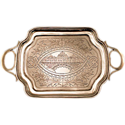 ca 1880 Rare Russian Silver (.875) Small Serving Tray - HIGHLY Collectible