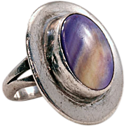 Super Sweet Early Vickie Tortalita Silver and Sugilite Ring