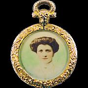 Antique 9 Karat Gold Chester Hallmarked Locket -ca 1907 Highly Collectible