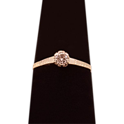 ca 1923 Diamond and 14 Karat White Gold Engagement Ring