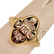 Elegant Vintage 14k Gold  and Diamond Ring